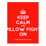 [Crown] keep calm and pillow fight on  Postcards