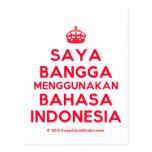 [Crown] saya bangga menggunakan bahasa indonesia  Postcards