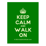 [Crown] keep calm and walk on  Postcards