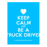 [Love heart] keep calm and be a truck driver  Postcards