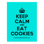 [Crown] keep calm and eat cookies  Postcards