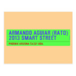 armando aguiar (Rato)  2013 smart street  Postcards