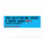 3rd Davyhulme Scout & Guide Band  Postcards