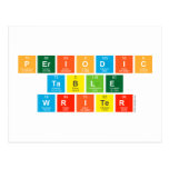 Periodic Table Writer  Postcards