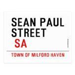 Sean paul STREET   Postcards