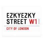 ezkyezky Street  Postcards