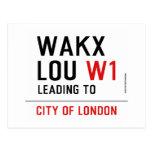 WAKX LOU  Postcards