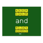 KEEP CALM and PLAY GAMES  Postcards
