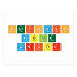 Periodic Table Writer  Postcards