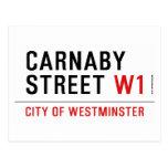 carnaby street  Postcards