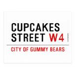 cupcakes Street  Postcards