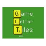 Game Letter Tiles  Postcards