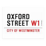 oxford street  Postcards