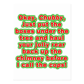 Postcards - Bad Chubby Santa