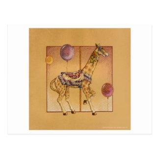 Postcards - Carousel Giraffe