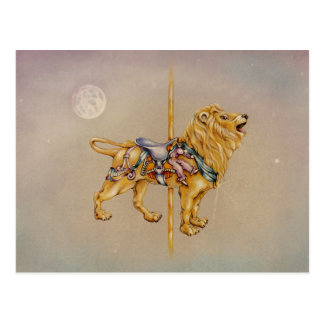 Postcards - Carousel Lion