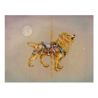 Postcards - Carousel Lion