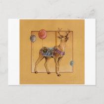 Postcards - Carousel Reindeer or Elk