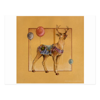 Postcards - Carousel Reindeer or Elk