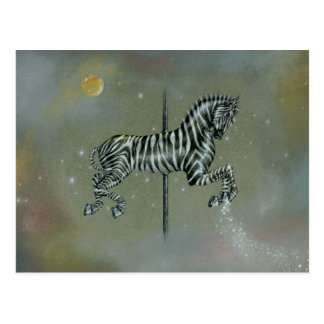 Postcards - Carousel Zebra