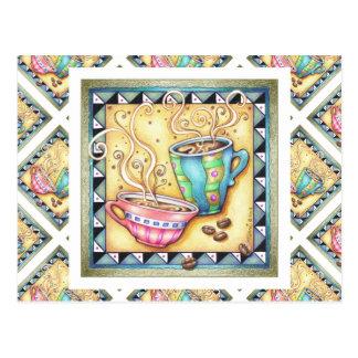 POSTCARDS - COOL BEANS COFFEE ART