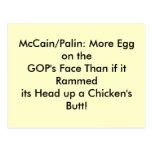 Postcards, egg on GOP's face