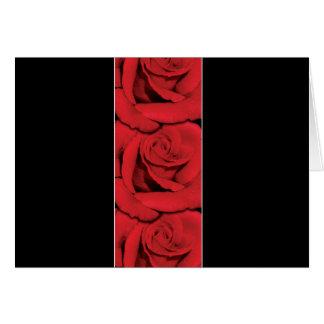 Postcards - elegant black and red roses