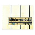 Postcards from Berlín: Möckernbrücke Tarjeta Postal