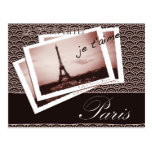 Postcards from Paris Bonjour Postcard
