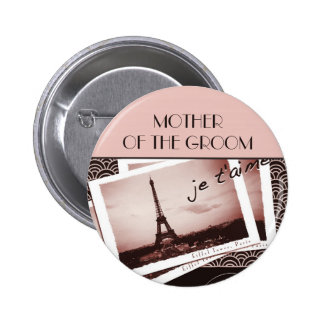 Postcards from Paris Mother of the Groom Pin