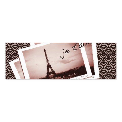 Postcards from Paris Tiny Contact Card Business Card