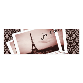 Postcards from Paris Tiny Contact Card Double-Sided Mini Business Cards (Pack Of 20)