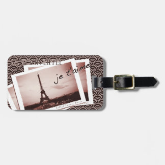 Postcards from Paris Vintage Photograph Tags For Bags