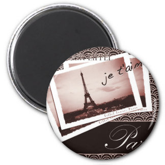 Postcards from Paris Vintage Photograph Refrigerator Magnets