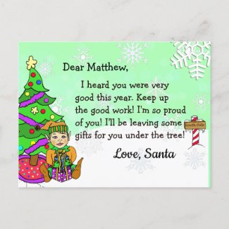 Postcards from Santa: Blonde Holiday Elf