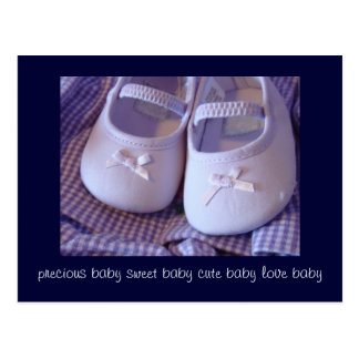 Postcards Precious Sweet Cute Baby Love Shoes
