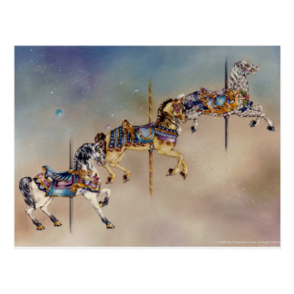 Postcards - Three Carousel Horses