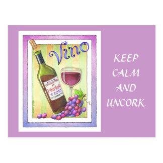 POSTCARDS - VINO!  You Had Me at MERLOT!