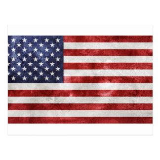 Postcars de la bandera americana tarjeta postal