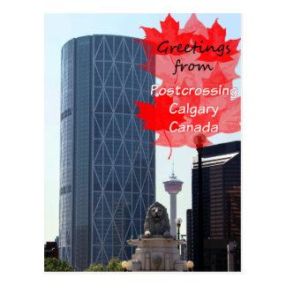 Postcrossing Calgary card Post Cards