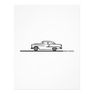 Poste 1955 de Chevy Hardtop Flyer Personalizado