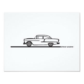 """Poste 1955 de Chevy Hardtop Invitación 4.25"""" X 5.5"""""""