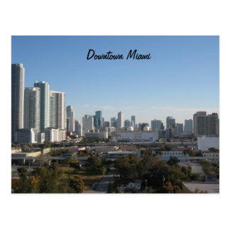 Poste céntrico de Miami Tarjeta Postal
