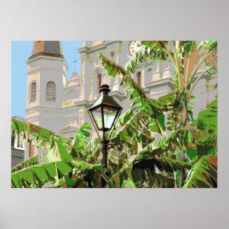 Poste cuadrado de la lámpara de Jackson Impresiones