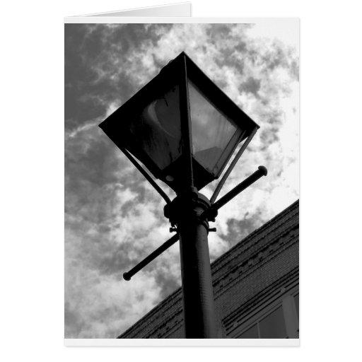 Poste de la lámpara de New Orleans Felicitación