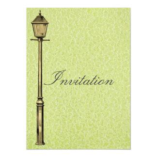 """Poste de la lámpara del vintage invitación 5.5"""" x 7.5"""""""