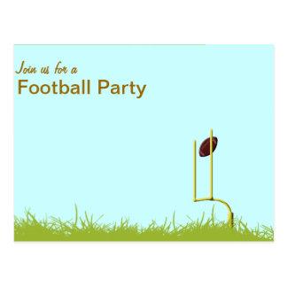 Poste de la meta del fiesta del fútbol tarjetas postales