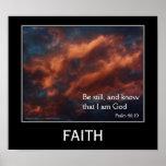 Poste de motivación inspirado del 46:10 del salmo  poster