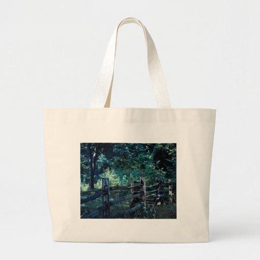 Poste del bosque bolsa tela grande