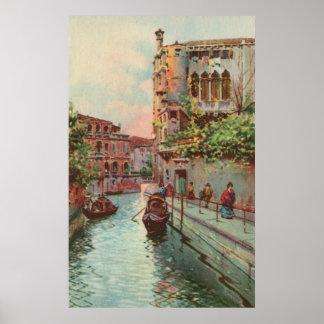 Poste del canal de Venecia Río Maravegie de la acu Posters